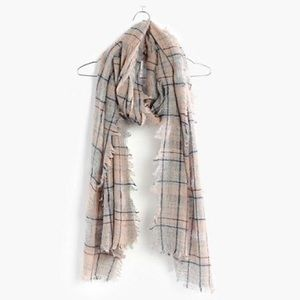 Madewell Openweave Scarf in Camden Plaid